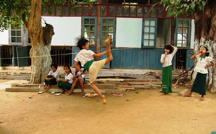Burmese Children Playing