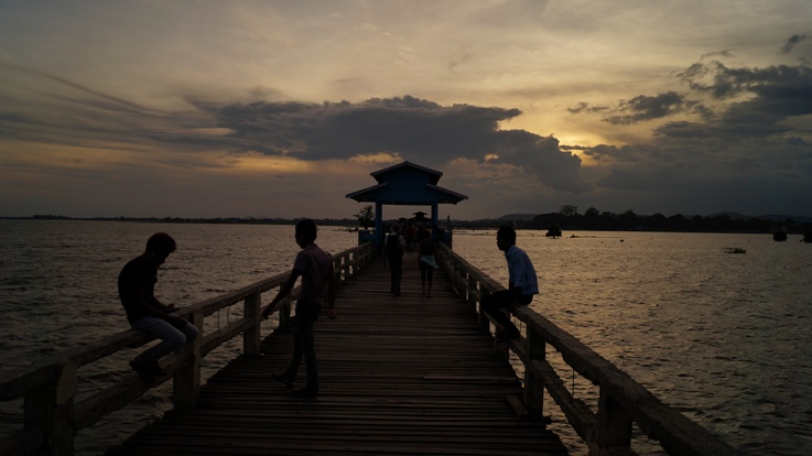 Ubein Bridge Sunset
