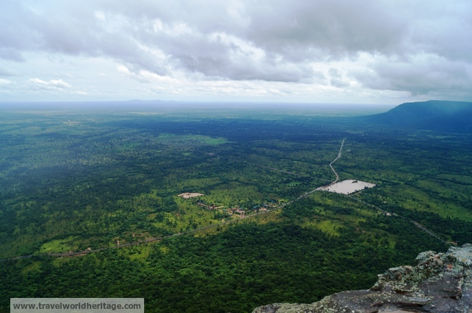 The views of the Cambodian and Thai landscapes alone are worth the trip.
