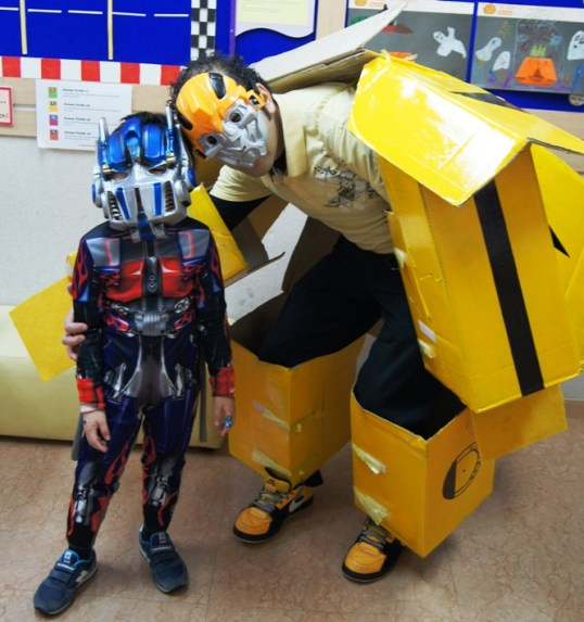 Bumblebee and Optimus