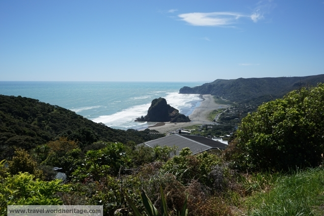 Piha from above.