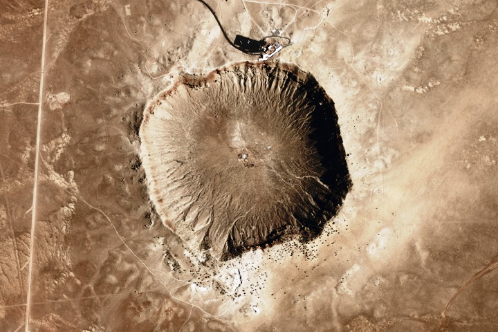 My sources (wikipedia) tell me that it is also known as the 'Barringer Crater.'