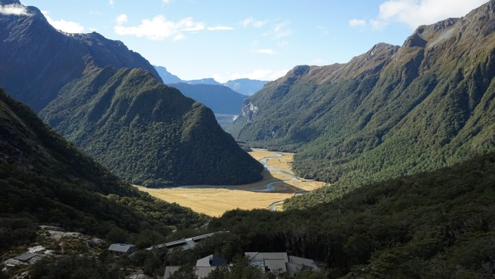 One of the best views of the Routeburn Track on the Falls Hut