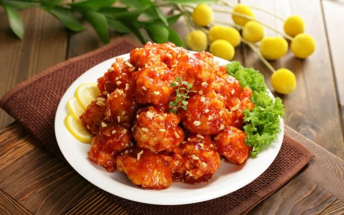 Korean Food - Sticky Sauce Chicken