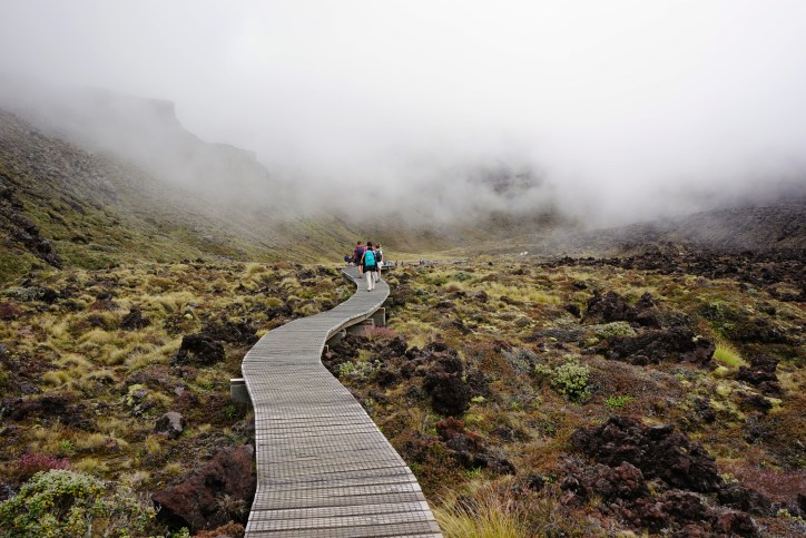 This was the only 'good weather day' for the Tongariro Crossing for at least a week.