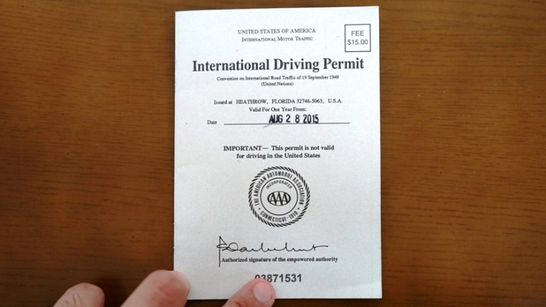 International Driving Permit IDP 6