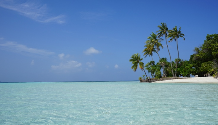 Dhangethi Island in the Maldives