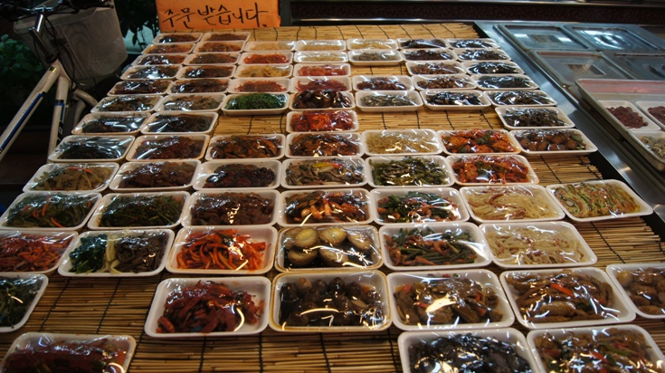 Dongwon Market - Panchan is 2,000 won or 3 for 5,000. Can't find a better deal!