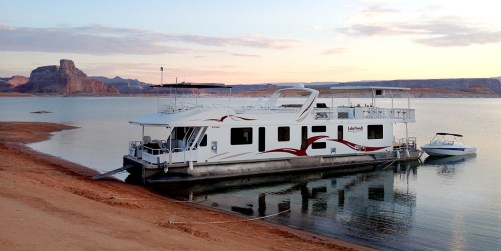 House Boat on Lake Powell. Photo by Jeffrey Lehmann.