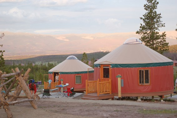 Yurts on Snow Mountain. Photo by Carrie Dow.