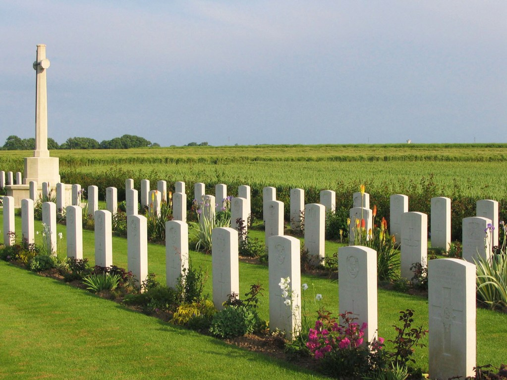 British Cemetery, Secqueville, Normandy