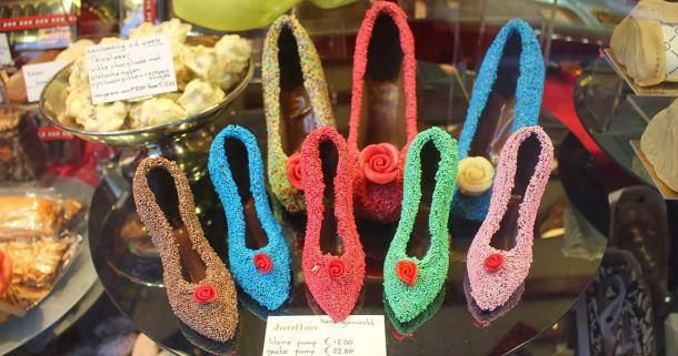 Chocolate pumps in Amsterdam