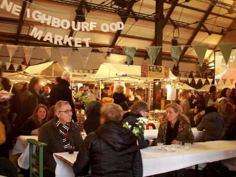 Holiday neighbour food market at Westerfabriek