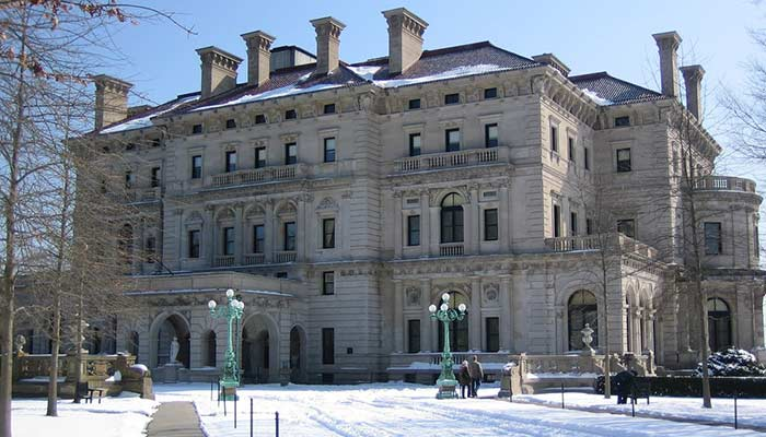 Breakers Mansion in Newport, Rhode Island