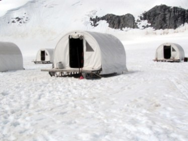 Icefield camp tents