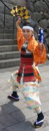 Costumed interpreter at the feudal castle, Shimabara Peninsula