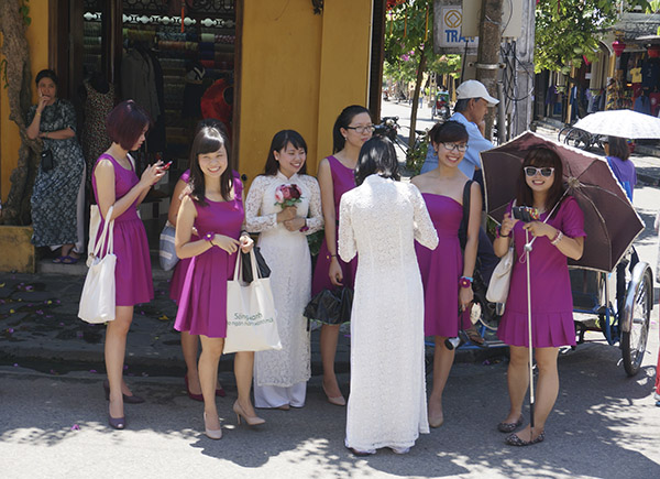 Wedding brides and bridesmaids, Hoi An