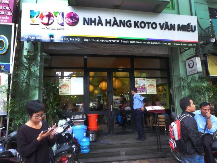 Koto restaurant exterior