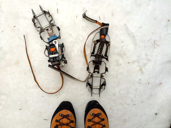 Crampons on Snow. Photo Credit: Jenn Smith Nelson