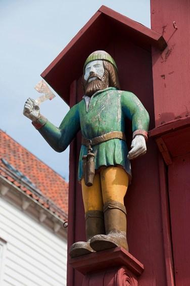 Bergen: Viking carved of wood. Photo credit: Jennifer Crites