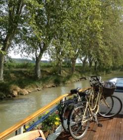 Cruising down the Canal du Midi. Photo credit: Jacqueline Harmon Butler