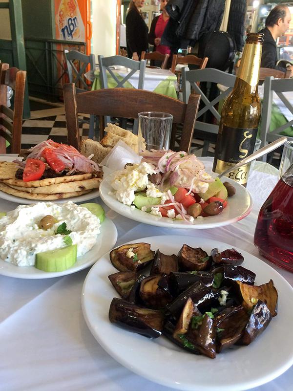 Greek feast in the Plaka. Photo credit: Jim Richardson