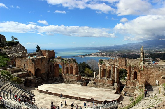 Ancient theatre of Taormina in Sicily. Photo credit: Jim Richardson