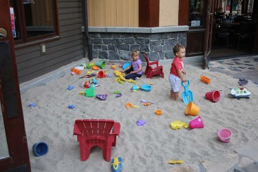 Alternative play area for the little ones. Photo Credit: Carrie Dow