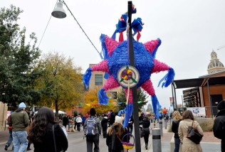 Brightly colored piñatas added to the atmosphere. Photo Credit: Leslie Long