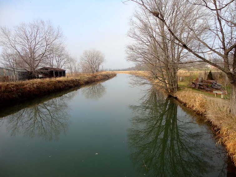 The Canal dug by the villagers. Photo Credit: Cindy Ladage