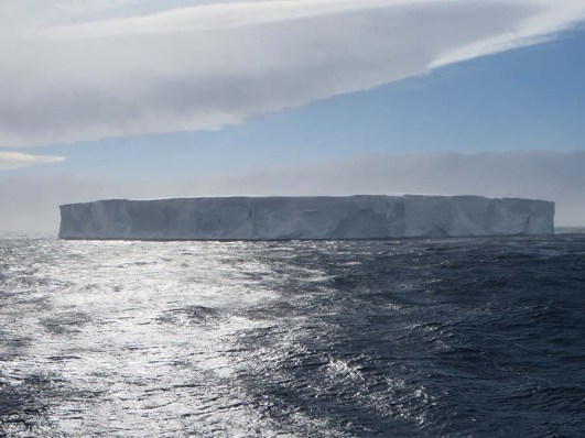 Giant tabular bergs astound in size and proportion. Photo Credit: Deborah Stone