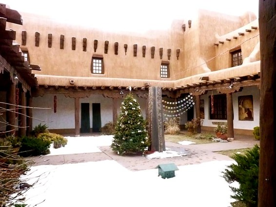 Christmas Tree in the Hacienda. Photo Credit: Barbara Singer