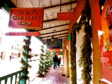 Shops decorated for the holidays. Photo Credit: Barbara Singer