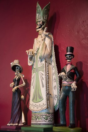 """Dia de Los Muertos (""""Day of the Dead"""") sculptures"""