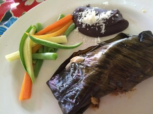Chicken Mole Tamales at NATJA Cooking Class, El Arrayán!