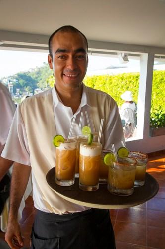 Cocktails at Vista Grill Restaurant, Puerto Vallarta