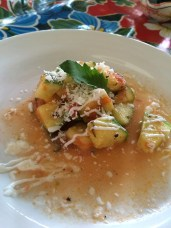 Zucchini appetizer at Cooking Class, El Arrayán