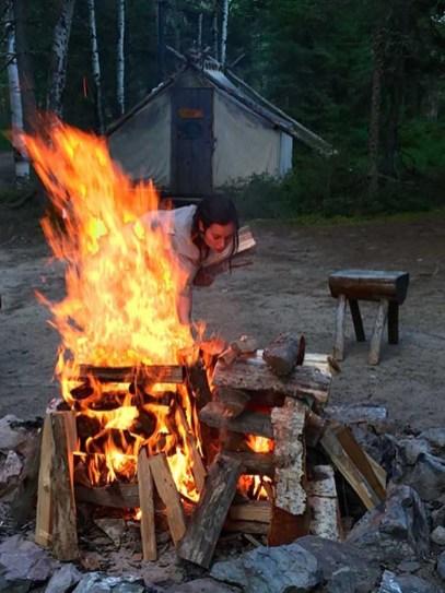 Zoo Sauvage campfire