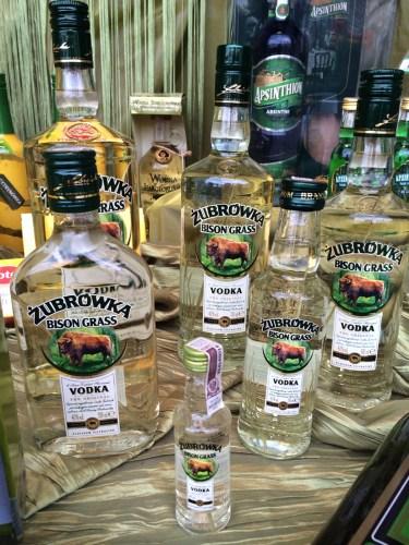 Zubrowka vodka with a blade of bison grass