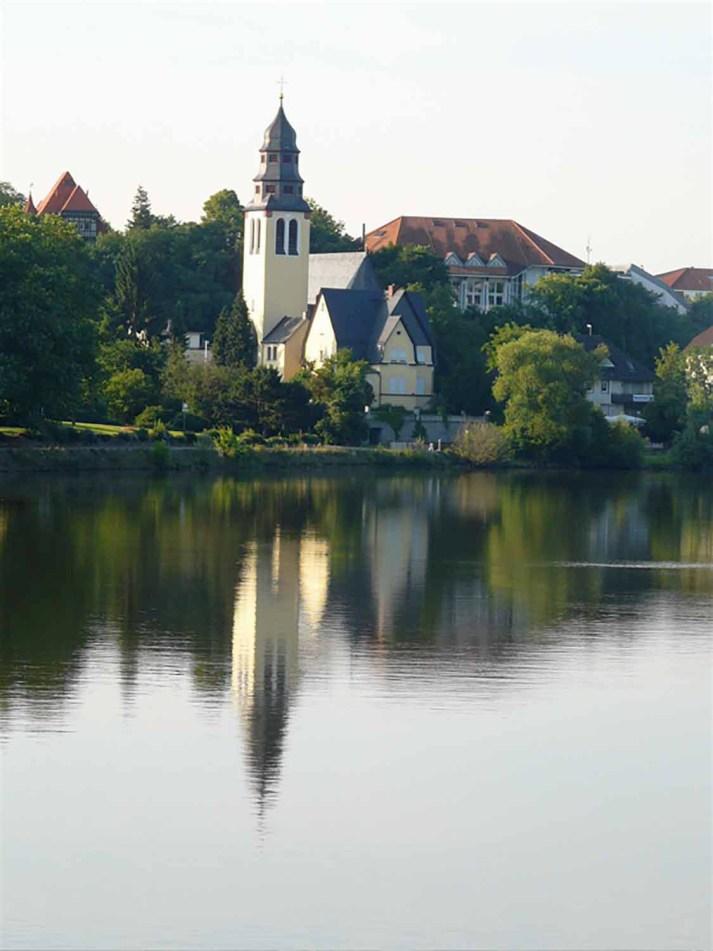Reflection on river Lumix