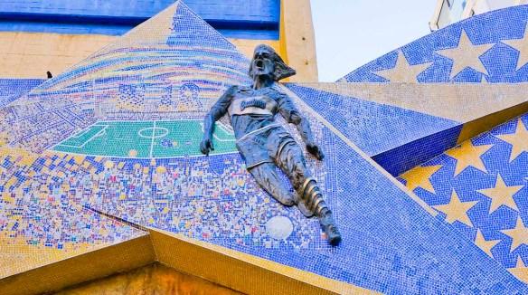 Soccer stadium in La Boca barrio