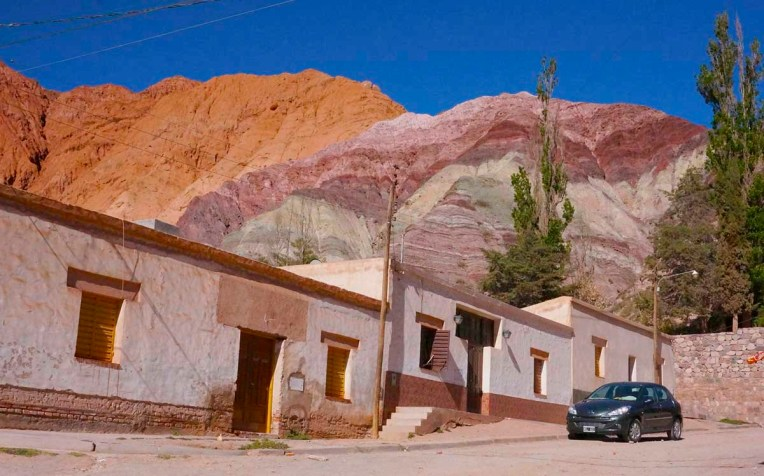 Mineral deposits make up the seven colored hills surrounding the town of Purmamarca