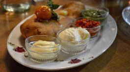 Foccacia with 4 dips