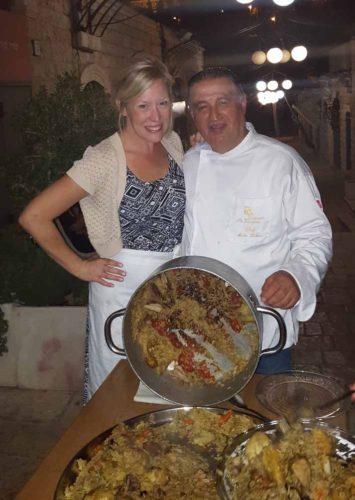 Kristin Winet & Moshe Basson cooking Maqluba
