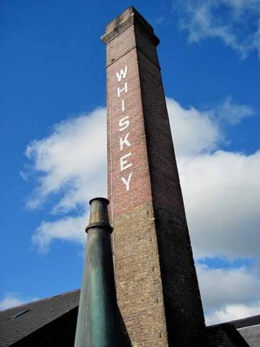 Smokestack at old Kilbeggan Distillery