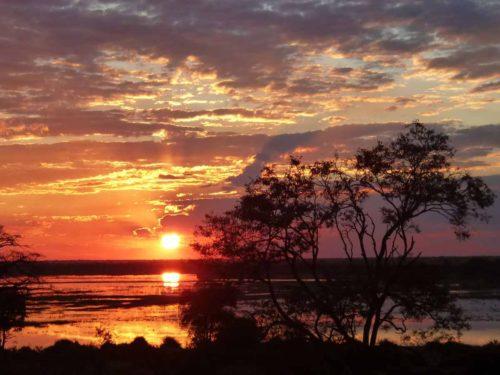 Sunset on the Chobe