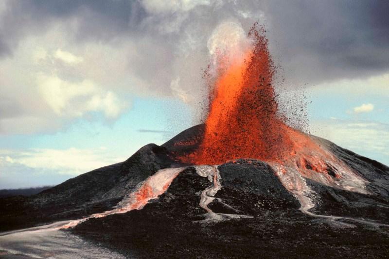 Pu'u O'o eruption, Hawaii Volcanoes National Park.