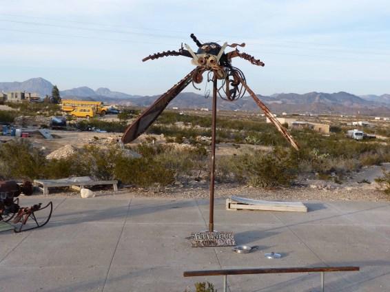 Terlingua - metal mosquito sculpture