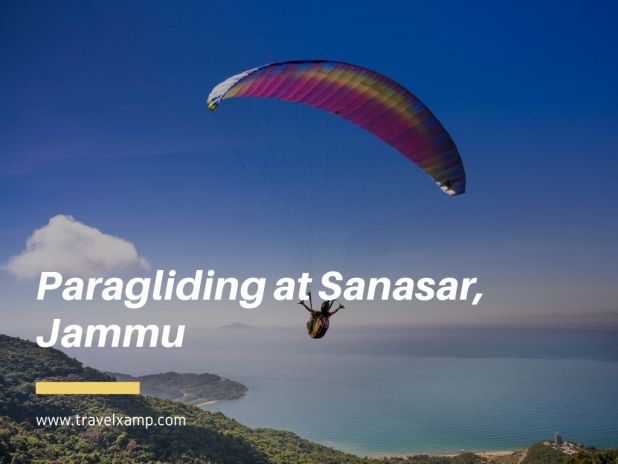 Paragliding at Sanasar, Jammu