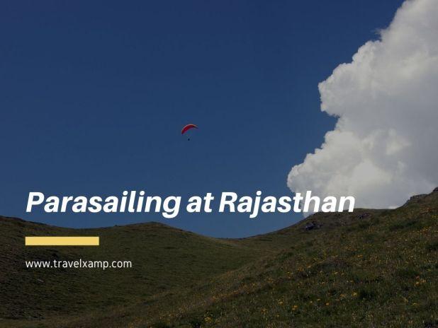 Parasailing at Rajasthan